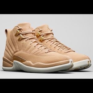 Jordan's 12 suede leather shoes high top shoes